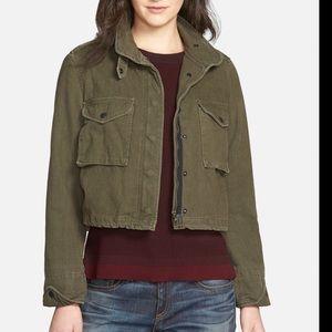 $530 Rag & Bone Military Crop Fatigue Green Jacket